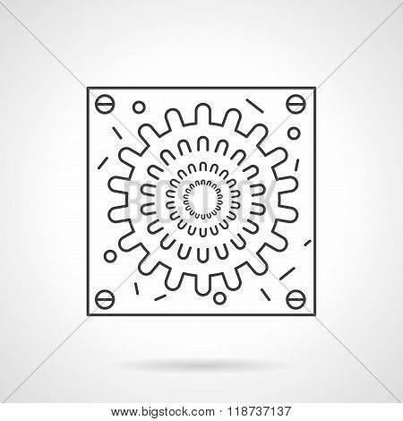 Abstract virion icon flat line design vector icon