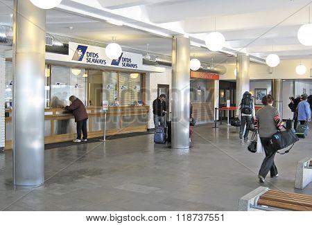 Oslo, Norway. People in terminal