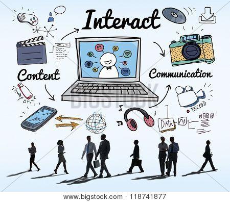 Interact Interaction Interactive Interacting Group Concept
