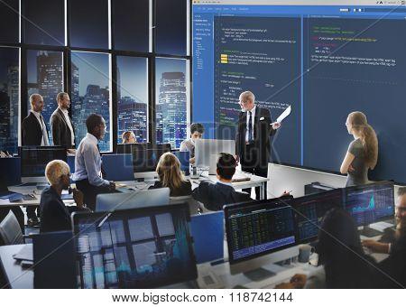 Software Programming Web Development Concept