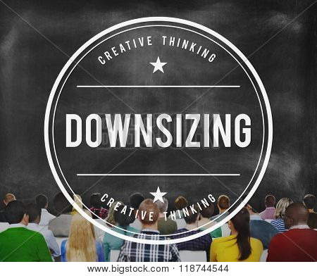 Downsizing Employee Human Layoff Loss Cutting Concept