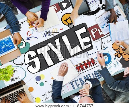 Style Posh Fashion Trendy Fashionista Concept