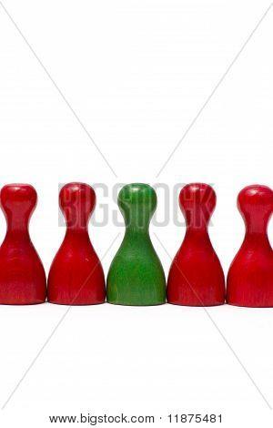 Leistungsindikatoren mit verschiedenen Farben