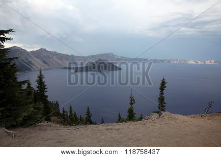 Crater Lake, the seventh deepest lake in the world, was formed after the explosion of Mount Mazama about 10,000 years ago. It is now Oregon's only national park.
