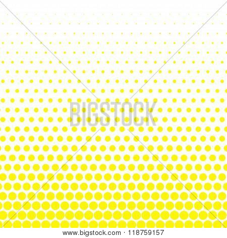 Cadmium yellow polka dot on white background