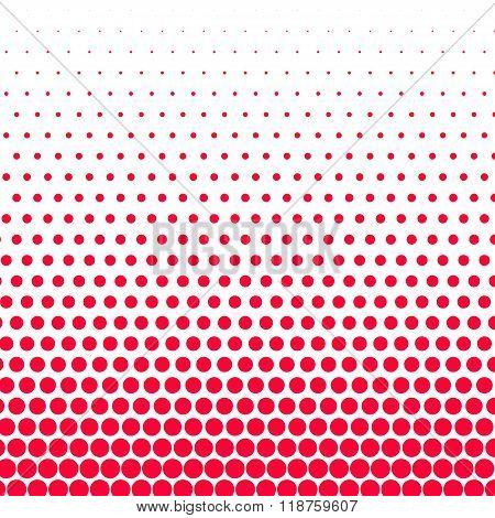 Carmine red polka dot on white background
