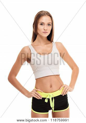 slim Aerobics fitness woman portrait