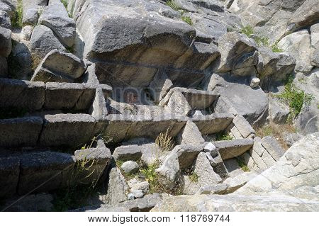 The ancient city Perperikon, in South Bulgaria near Kardzhali