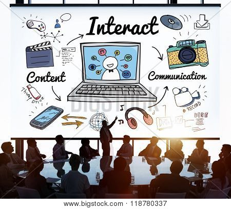 Interact Interaction Interactive Interacting Group Concept