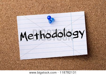 Methodology - Teared Note Paper Pinned On Bulletin Board