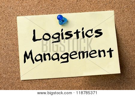 Logistics Management - Adhesive Label Pinned On Bulletin Board