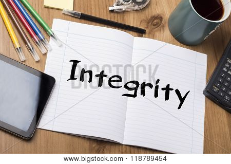 Integrity - Note Pad With Text