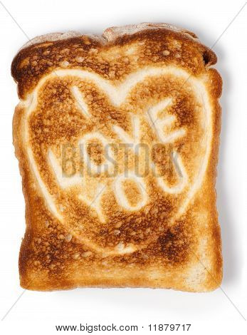 Toasted Bread With Love Message