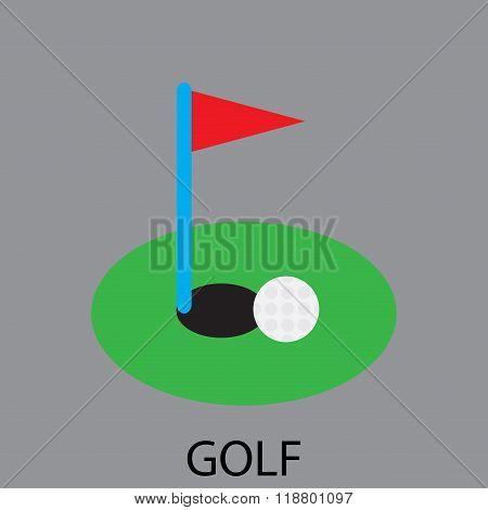 Golf Sport Icon