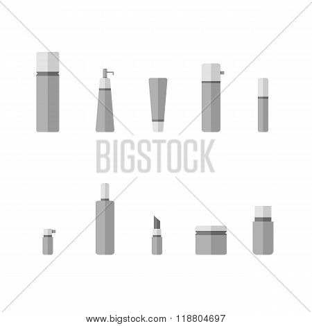 Set of Cosmetic bottle icons