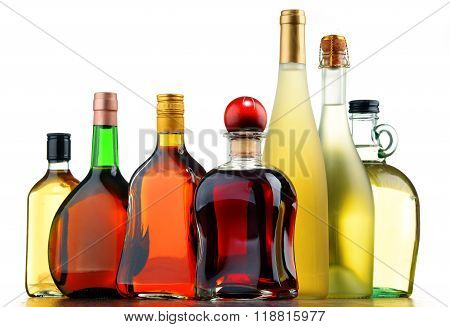 Bottles Of Assorted Alcoholic Beverages