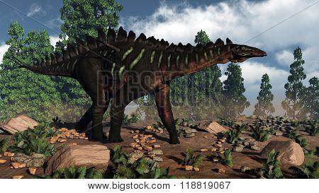 Miragaia dinosaur - 3D render