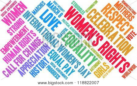 Women's Rights Word Cloud