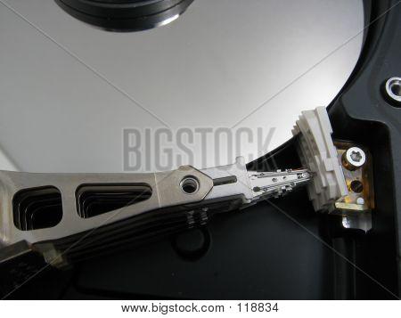 Closeup Inside Harddisk