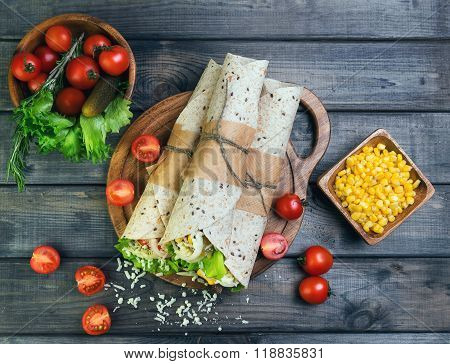 Sandwiches Twisted Roll Tortilla