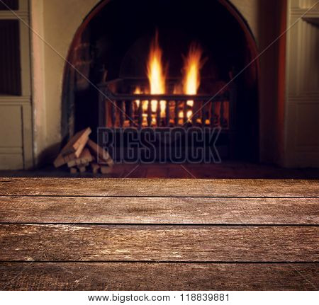 Fireplace With Texture