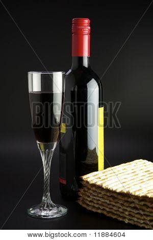 Matza and red wine