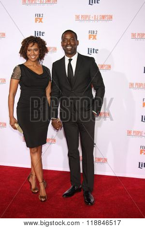 LOS ANGELES - JAN 27:  Sterling K. Brown at the American Crime Story - The People V. O.J. Simpson Premiere at the Village Theater on January 27, 2016 in Westwood, CA