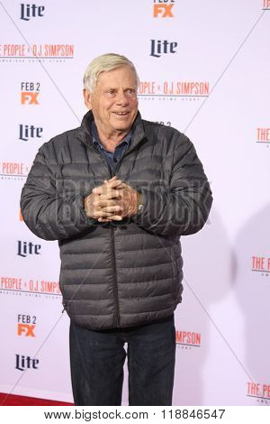 LOS ANGELES - JAN 27:  Robert Morse at the American Crime Story - The People V. O.J. Simpson Premiere at the Village Theater on January 27, 2016 in Westwood, CA