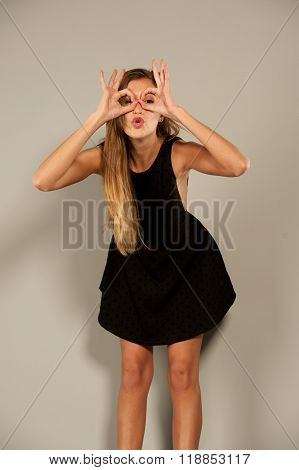 Model Posing Funny