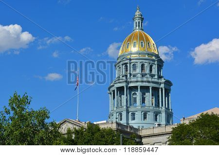 Colorado State Capitol Building Gold Dome