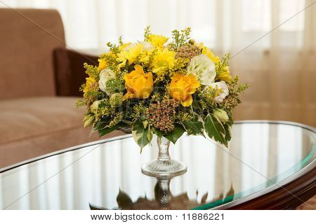 Flowers In A Hotel Room