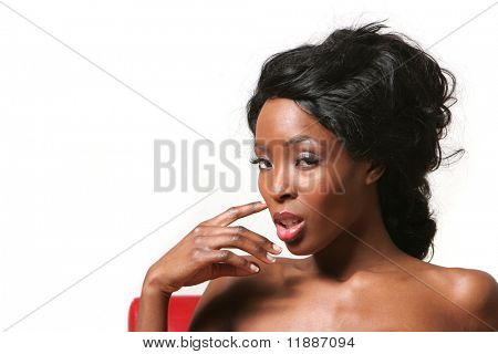 Beautiful sexy African American woman