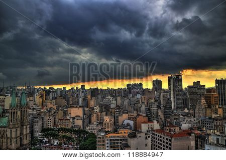 Storm coming in Sao Paulo, Brazil