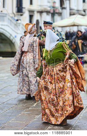 Venetian Woman Dancing - Venice Carnival 2014