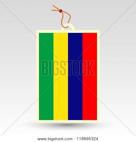 Vector Simple Mauritian Price Tag - Symbol Of Made In Mauritius