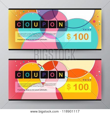 Coupon Card Template. Promotion Card. Vector Stock.