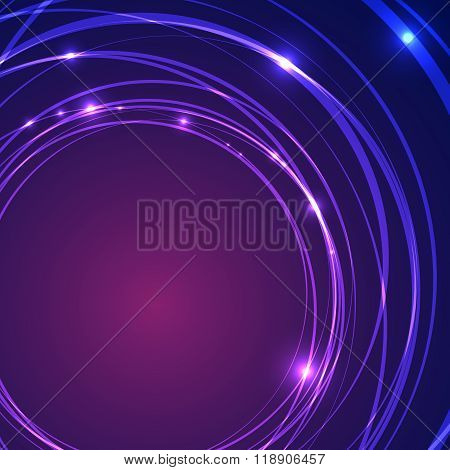 Energy abstract glow circles