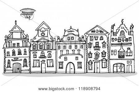 Old Prague Buildings