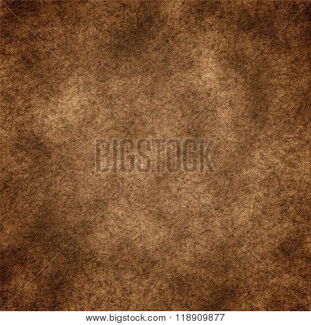 Grunge textured background in brown tones with vignette effect