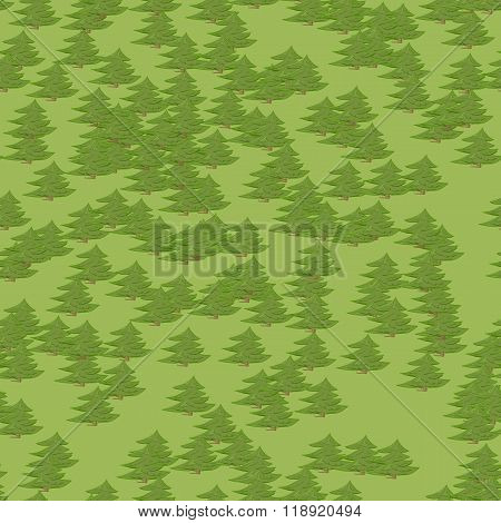 Abstract colorful tree forest seamless pattern background in cartoon style