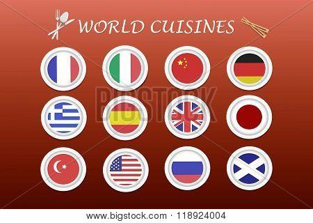 World Cuisines Vector