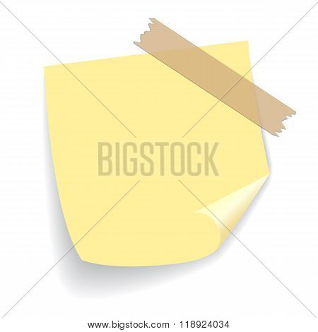 Yellow square sticker