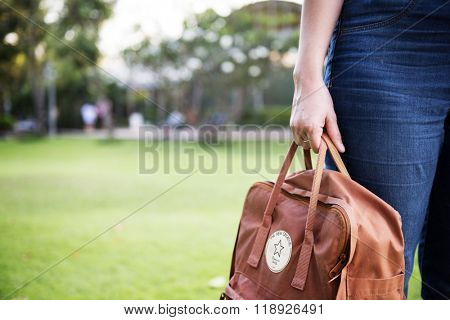 Backpack Baggage Haversack Knapsack Bag Leisure Concept
