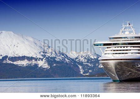 Docked Alaskan cruise ship