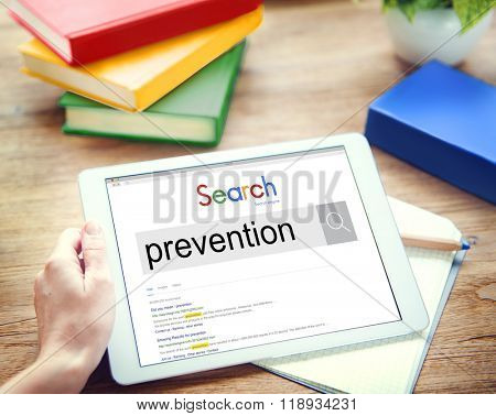 Prevention Preventing Prevent Stopping Symptoms Concept