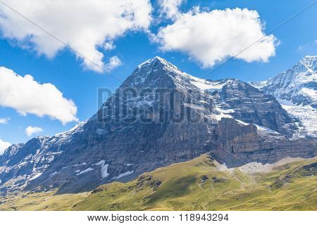 Eiger North Face And Eiger Glacier