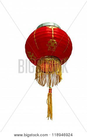 Chinese Lantern White Background