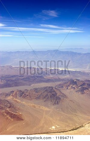 Aerial view of southwestern USA