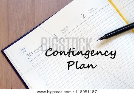 Contingency Plan Write On Notebook