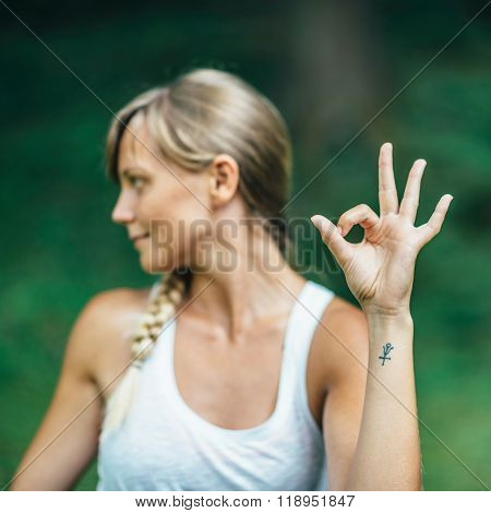 Yoga Mudra Hand Sign